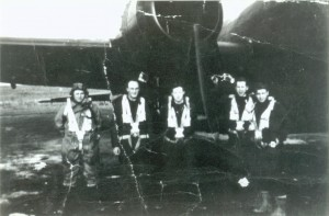 3.WO2 Cameron (right) and his crew in front of a Halifax VII.  While the crew is not named, it is suspected that these are the members of the Clifford Crew during their Heavy Bomber Conversion. Most crews stayed paired throughout training and deployment