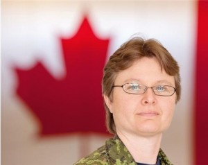 Sgt. Barb Pelletier talks about the National Day of Honour and what it means to her at Edmonton Garrison on May 8, 2014. Photograph by: Greg Southam, Edmonton Journal